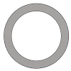 conflat gasket, silver-plated copper
